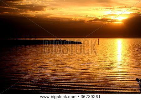 Sunset at Sandringham bay