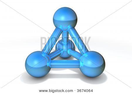 Molecule Structure Blue