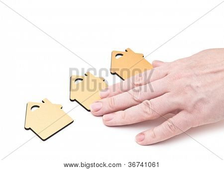 hand choosing small home