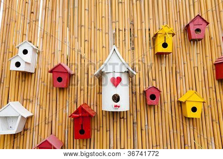 Colorful Collection Of Birdhouses