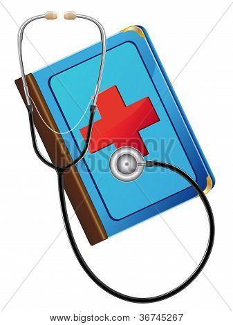 Medical Book And Stetoskop