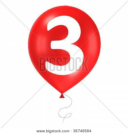 3d balloons isolated