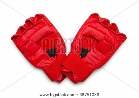 Kick-boxing gloves isolated on the white