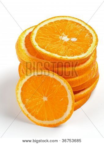 Stack Of Orange Lobules