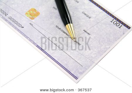 Cheque And Pen