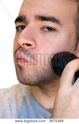 Young Man Shaving