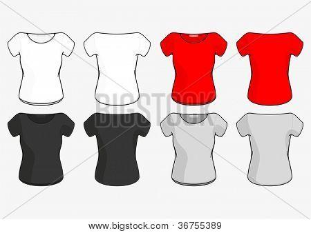 Female T-shirt (raster version)