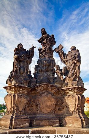 Madonna - Sculpture On A Charles Bridge, Prague