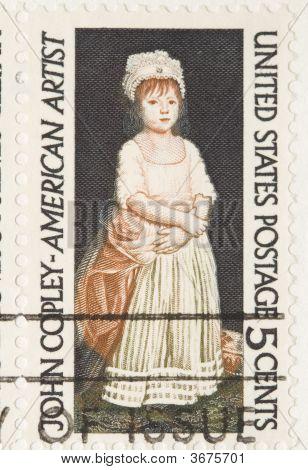 Vintage 1964 Stamp John Copley