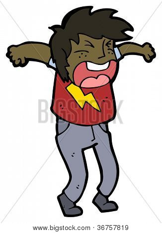 shouting angry person cartoon