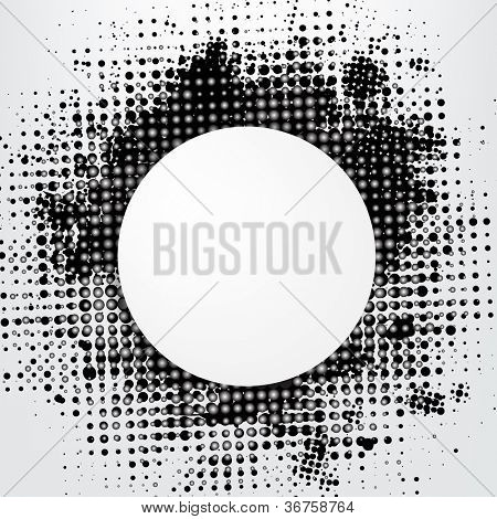 Grunge Background With Speech Bubble