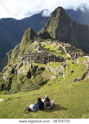Looking At The Machu Picchu