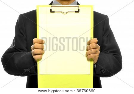 Holding Clipboard