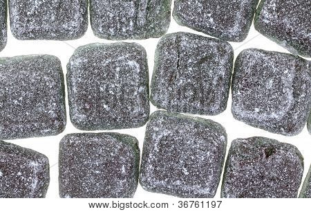 Licorice Hard Candy Squares Layer