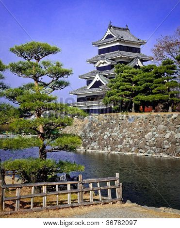 A view of the Matsumoto castle in Matsumoto, Japan