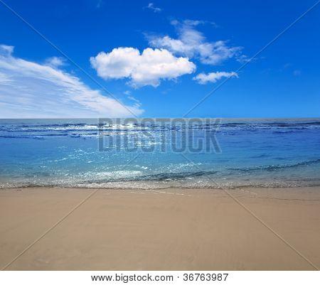 Maspalomas Playa del Ingles beach sand and blue sky in Gran Canaria