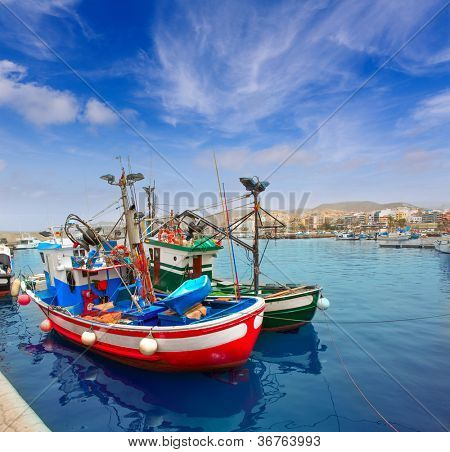 Arguineguin Puerto port in Mogan Gran Canaria of Canary Islands