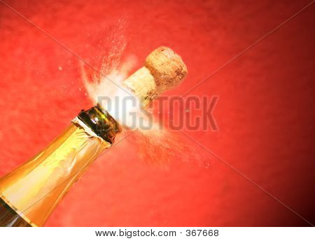 Champagne Cork Exploding