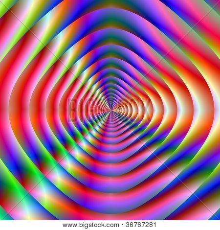 Cone de altifalante psicodélico