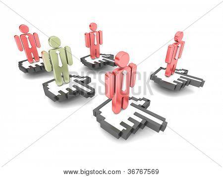Online people concept