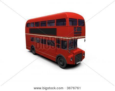 roten Doppeldecker-Bus weiß