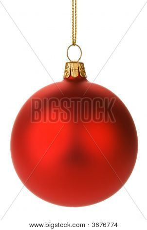 Hanging Red Christmas Baubles
