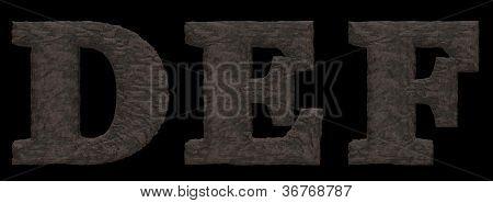 Alfabeto de pedra