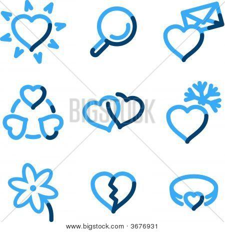 Love Icons, Blue Contour Series