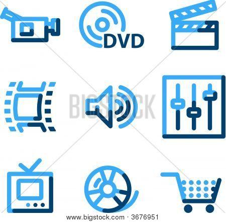 Video Icons, Blue Contour Series