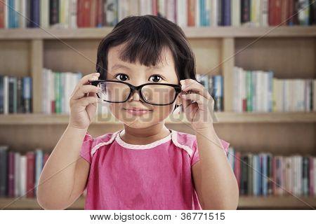 Cute Girl Wearing Glasses
