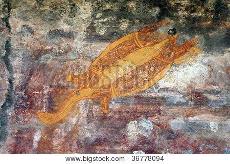 Ubirr Turtle Rock Art