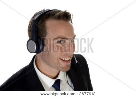 Successful Businessman Enjoying Call