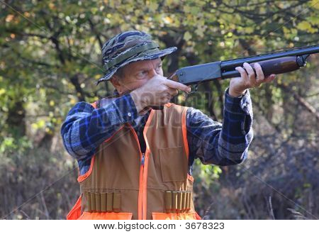 Hunter In Fall
