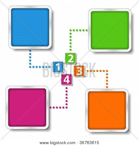 Diagram template with four elements