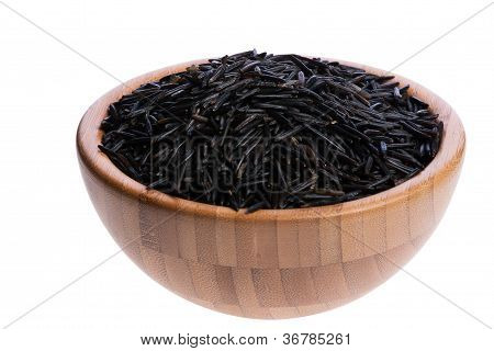 Wooden Bowl With Rice