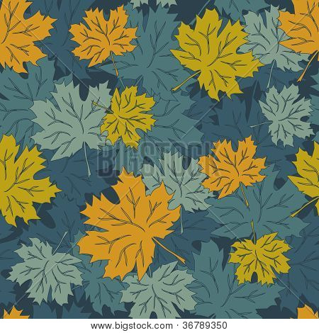 Seamless vector autumn leaves background, eps8