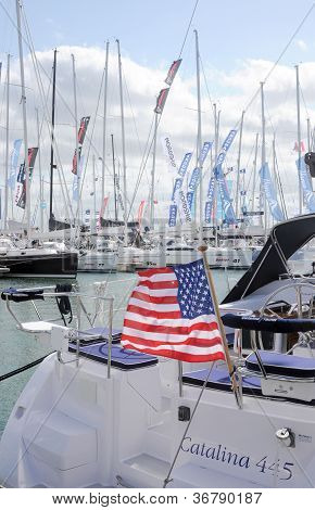 Stars and stripes at the marina