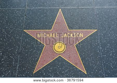 Hollywood - April 3: Michael Jackson's Star On Hollywood Walk Of Fame On April 3, 2011 In Hollywood,