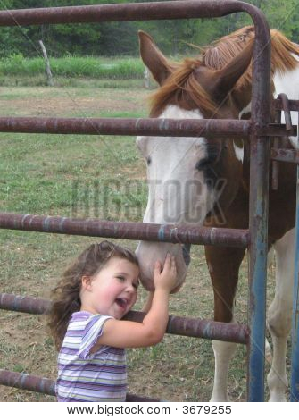 Young Girl And Horse