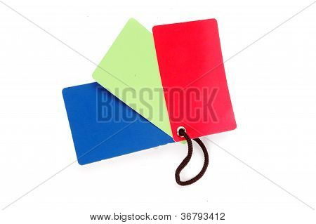 Three Color Blank Paper Tag