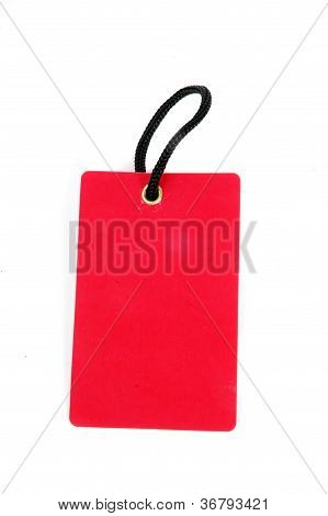 Vertical Red Blank Paper Tag
