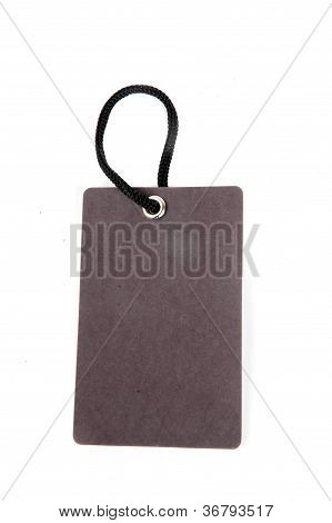 Vertical Black Paper Tag