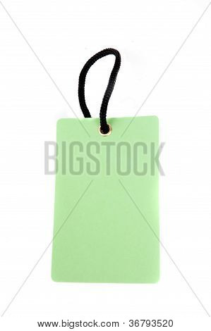 Vertical Green Paper Tag