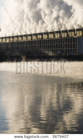 Steaming Cooling Towers