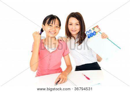 lächelnde Mädchen