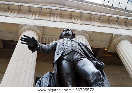 Federal Hall On Wall St., New York