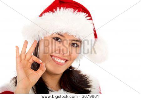 Santa Okay Sign