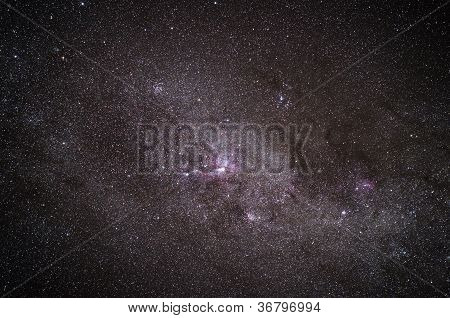 Real Shot Of A Galaxy In The Night Sky