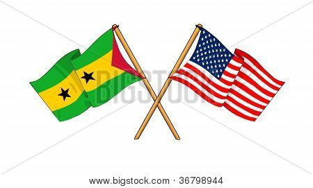 America And S�o Tom� And Pr�ncipe Alliance And Friendship
