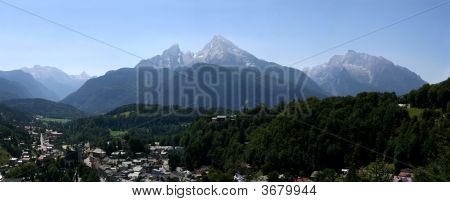 Bavarian Alps In Germany With Watzmann And Berchtesgaden